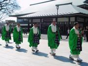 Marching priests, Naritasan Shinshoji Temple, Narita, Chiba-ken, Japan, photo