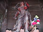 Guardian ogre, Niomon gate, Naritasan Shinshoji Temple, Narita, Chiba-ken, Japan, photo