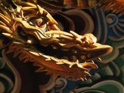 Fearsome dragon, Three-storied pagoda, Naritasan Shinshoji Temple, Narita, Chiba-ken, Japan, photo