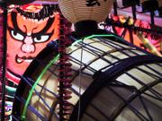 Drum and face, Nebuta Festival, Aomori, Japan, photo