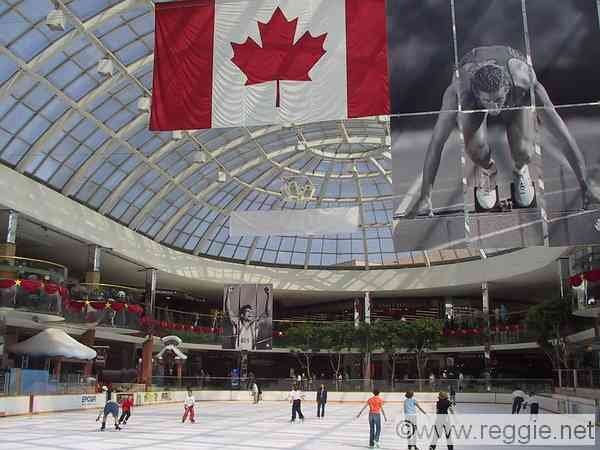 Ice rink, West Edmonton Mall, Edmonton, Alberta, Canada, photo