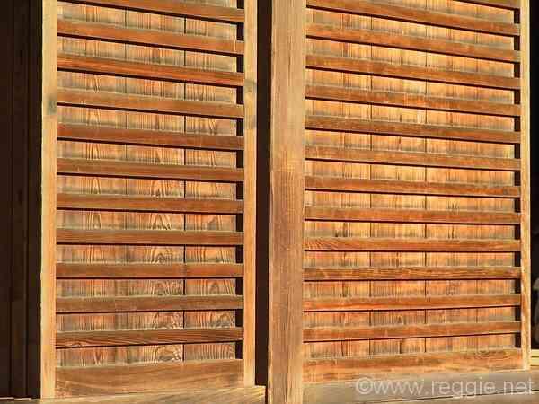 wooden sliding doors tenryuji temple arashiyama kyoto japan photo