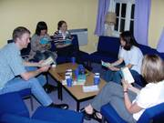 Bible study, Origami evening, 19th June 2003, photo