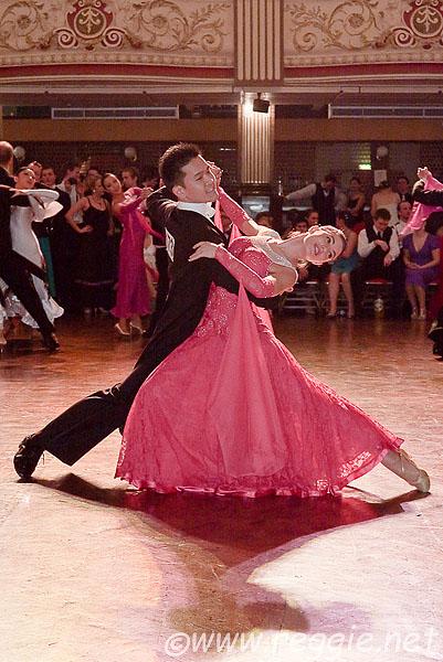 Waltz throwaway oversway, in the Empress Ballroom, Blackpool