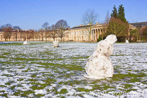 The snowmen in Downing College
