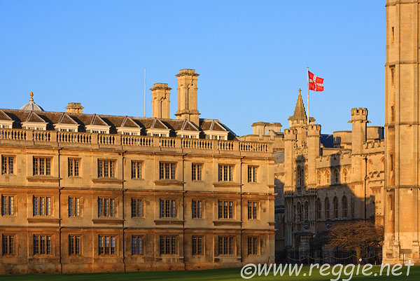 A red flag on Old Schools - seen from Kings College