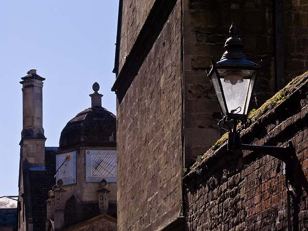 Lamp and sundials, Caius College