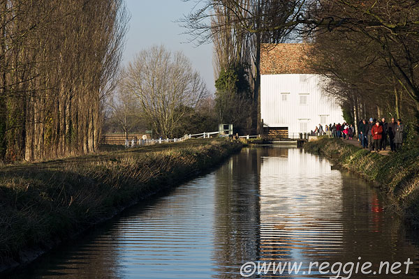 Lode Mill and flume, Anglesey Abbey, Lode, Cambridgeshire, England