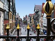 Street scene from Eastgate Clock, Chester, Cheshireの写真