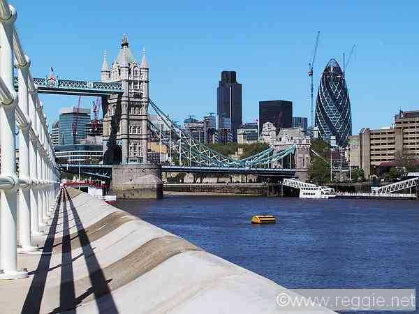 Gherkin, Nat West Tower and Tower bridge, London, England, photo