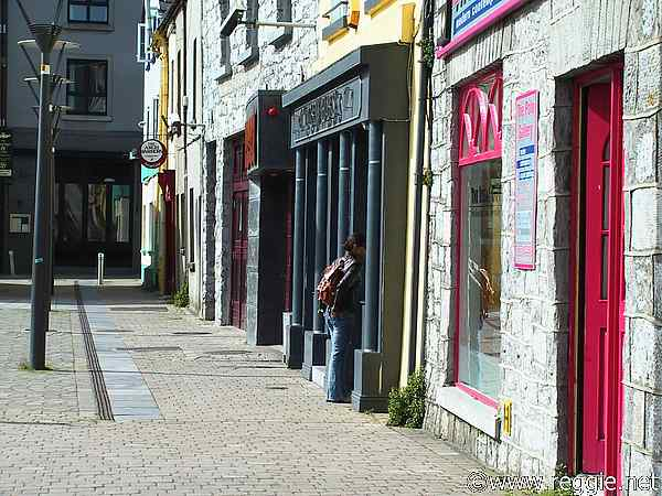 Street scene, Galway City, Ireland, photo