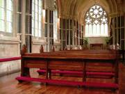 Pews, Gothic church, Kylemore Abbey, Co. Galway, Ireland, photo