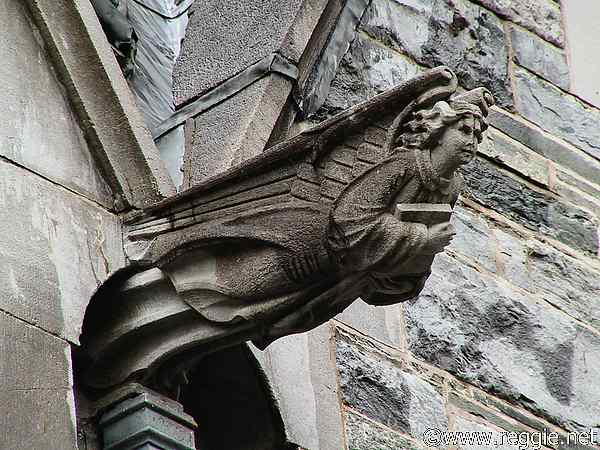 Gargoyle Gothic Church Kylemore Abbey Co Galway Ireland Photo