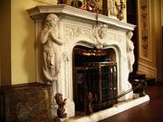 Fireplace, Kylemore Abbey, Co. Galway, Irelandの写真