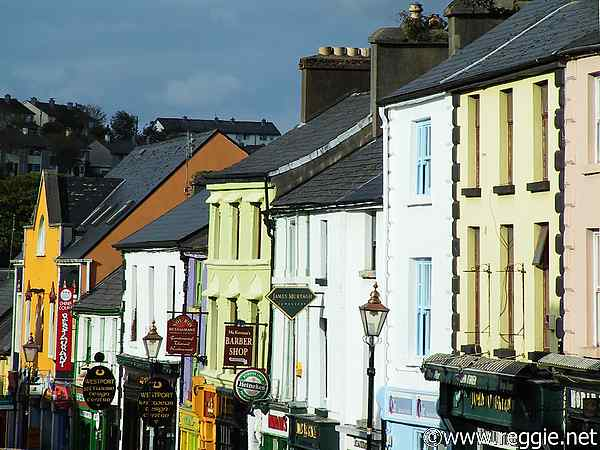 Colourful street, Westport, Co. Mayo, Ireland, photo