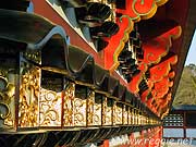 Lanterns in wall, Naritasan Shinshoji Temple, Narita, Chiba-ken, Japan, photo