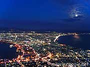 Hakodate by night from Mt. Hakodate, Hokkaido, Japan, photo