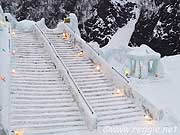 Steps, Ice Sculpture Festival, Sounkyo, Hokkaido, Japan, photo
