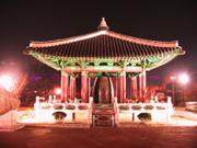 Bell by night, Mt. Yongdu, Busan, Korea, photo