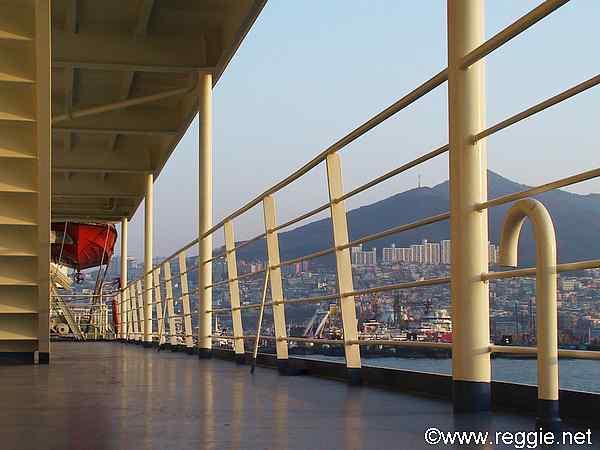 Deck Ferry Busan Korea Photo