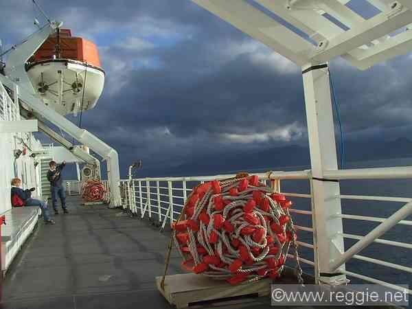 Deck Taku Ferry South East Alaska United States Photo