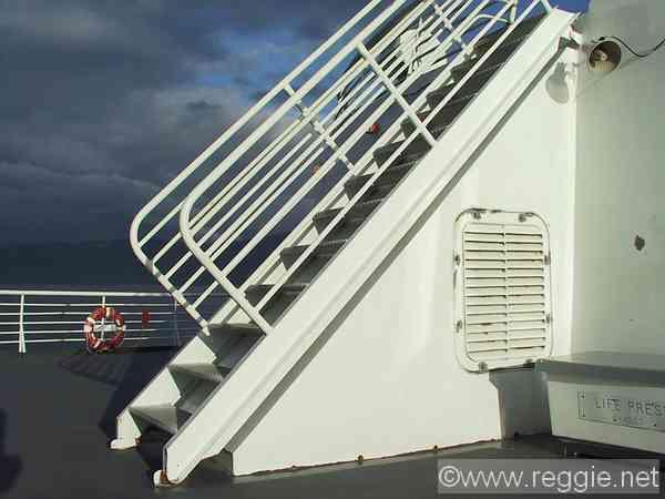 Deck Stairs Taku Ferry South East Alaska United States